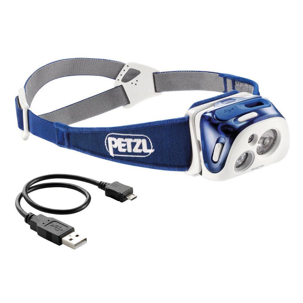 PETZL REACTIK - blue STIRNLAMPE INTELLIGENTE USB AUFLADBARE