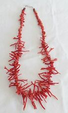 """VINTAGE  RED BRANCH NATURAL CORAL NECKLACE 18"""" of Coral"""
