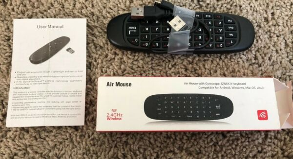100% Waar Air Mouse W/gyroscope Qwerty Keyboard Wireless 2.4hz Compatible With All Devices