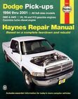 Dodge Pick-ups Automotive Repair Manual: 1994-2001 by J. H. Haynes, Mike Stubblefield (Paperback, 2001)