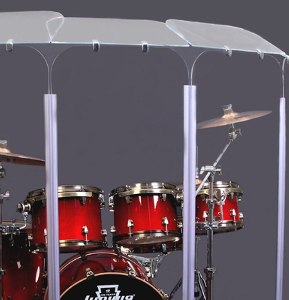 Drum Shield Drum Screen Acrylic Drum Shield with Deflectors DS2D L 5ft TALL