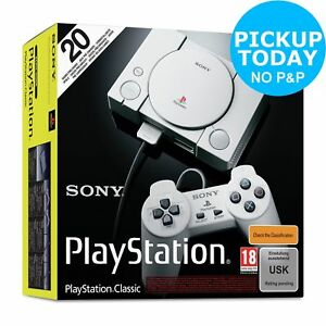 Sony PlayStation Classic Console with 20 Games Preloaded - Grey