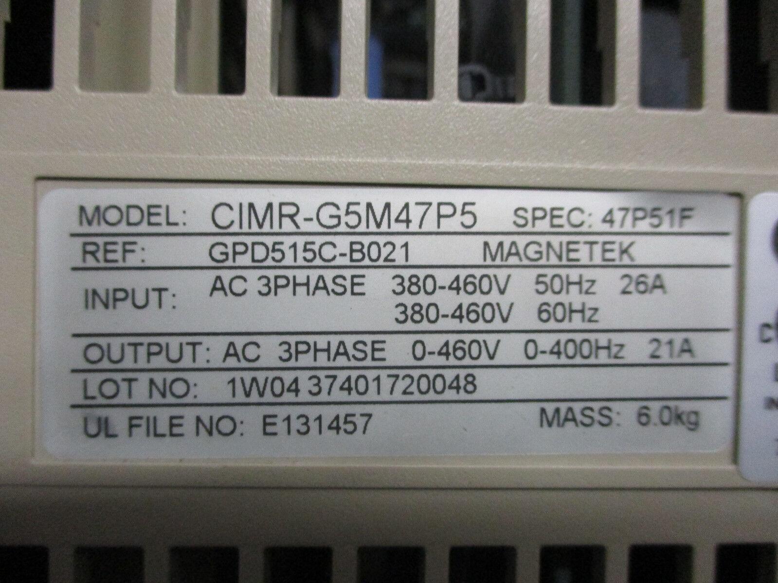Yaskawa Cimr G5m47p5 Ac Drive 21 Amps 460 Volts Ebay Printed Circuit Board Repair On Allen Bradley Magnetek