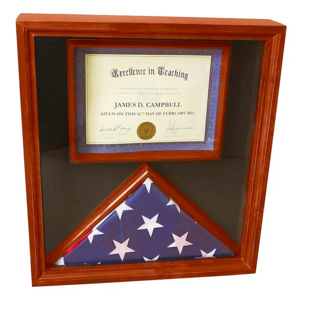 3x5 Flag Display Case With Certificate Doent Holder Frame