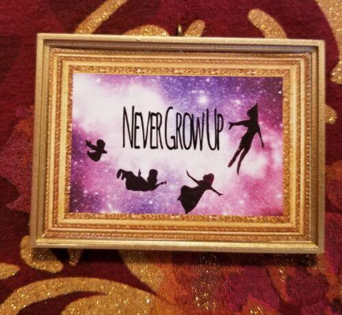 "Peter Pan Inspired ""Never Grow Up"" Handmade Christmas Tree Ornament"