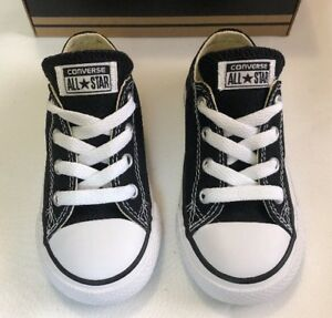 Details about Converse Chuck Taylor All Star Ox Top Black White Infant Toddler Boy Girl 7 10