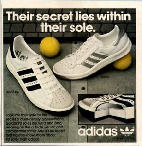 Details about 1984 Adidas Old School Shoes Grand Prix Bettina Court Tennis Vintage Print Ad