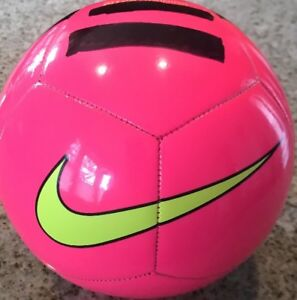 best place super quality new styles Nike Pitch Training Soccer Ball Pink Yellow Black (Size 4) SC3101 ...