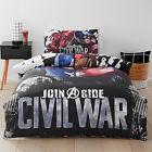 MARVEL CIVIL WAR CAPTAIN AMERICA AVENGERS DOUBLE bed QUILT DOONA COVER SET NEW