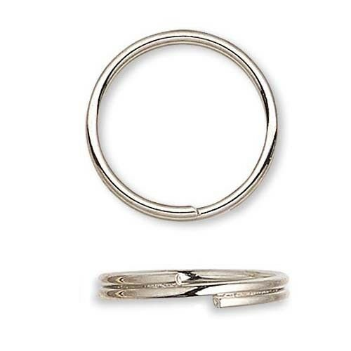100 Steel Round Split Rings Small - Big Double Ring Keyring Findings