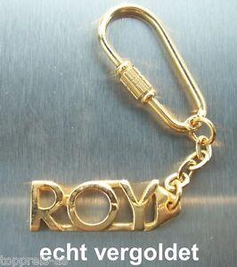 EDLER SCHLÜSSELANHÄN<wbr/>GER ROY VERGOLDET GOLD NAME KEYCHAIN WEIHNACHTSGESC<wbr/>HENK