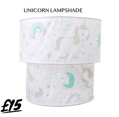 Unicorn White Fabric Ceiling Lampshade, White Childrens Lampshade
