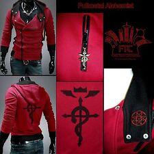 Fullmetal Alchemist Inspired Fan Art Red & black Hoodie Size Large