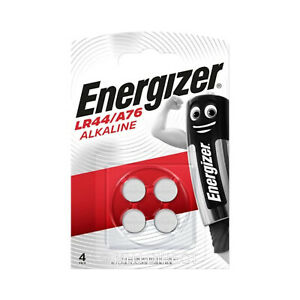 Energizer-LR44-AG13-A76-L1154-GPA76-Alkaline-Batteries-Pack-of-4-Use-By-2023