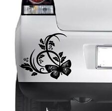 BUTTERFLY FLOWER STICKER Car Bumper Van Window Wall Laptop JDM VINYL DECALS HQ