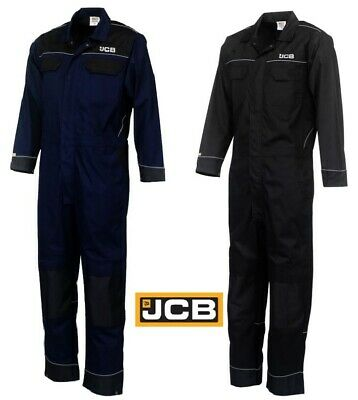 WunderschöNen Jcb Trade Coveralls Mens Knee Pad Heavy Duty Overalls Boilersuit Work Mechanics