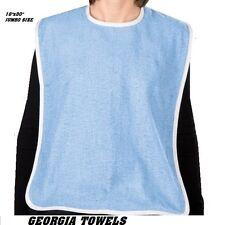 1 pc NEW ADULT TERRY CLOTH BIB W/ VELCROE CLOSURES BLUE