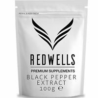 Black Pepper Extract 100g • Piperine 95% • Fast Despatch • W/ Scoop