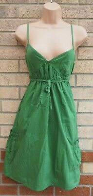 Kleider Damenmode Aufstrebend Dorothy Perkins Green Strappy Belted Tunic Smock Baggy Summer Tea Dress 10 S Mild And Mellow