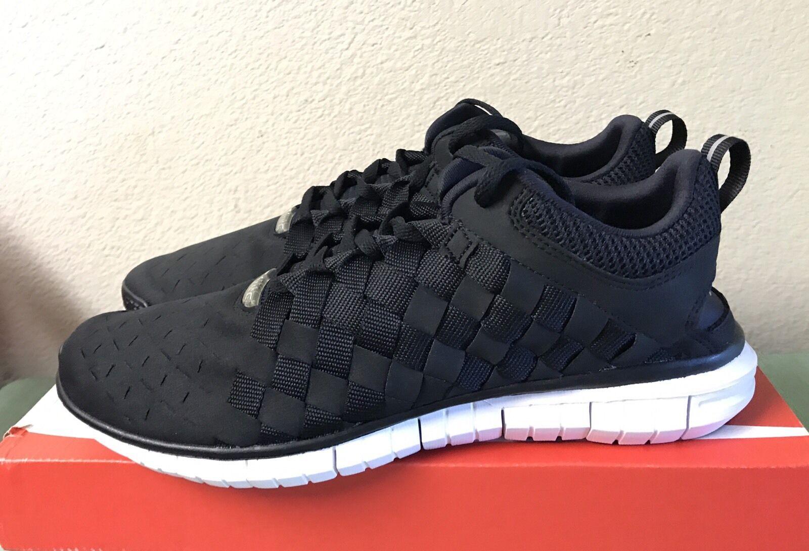 Nike Free OG '14 Woven Black Cool Grey White Mens Sz 9 QS Running Shoes NEW!!!
