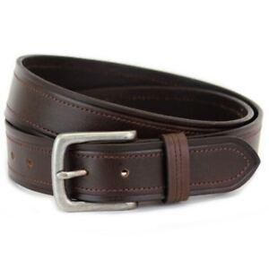 In Braun 8244 Herren Premium Leder Breit Ledergürtel Taille Größe 81.3to142cm Bequem Zu Kochen