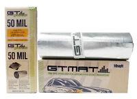 10sqft GTMat Pro 50mil Car Truck Panel Audio Noise Deadening Mat Deck Door Kit