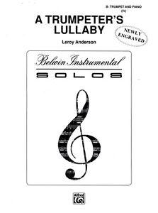 AgréAble Anderson Trumpeter's Lullaby Trompette & Piano-afficher Le Titre D'origine Adopter Une Technologie De Pointe