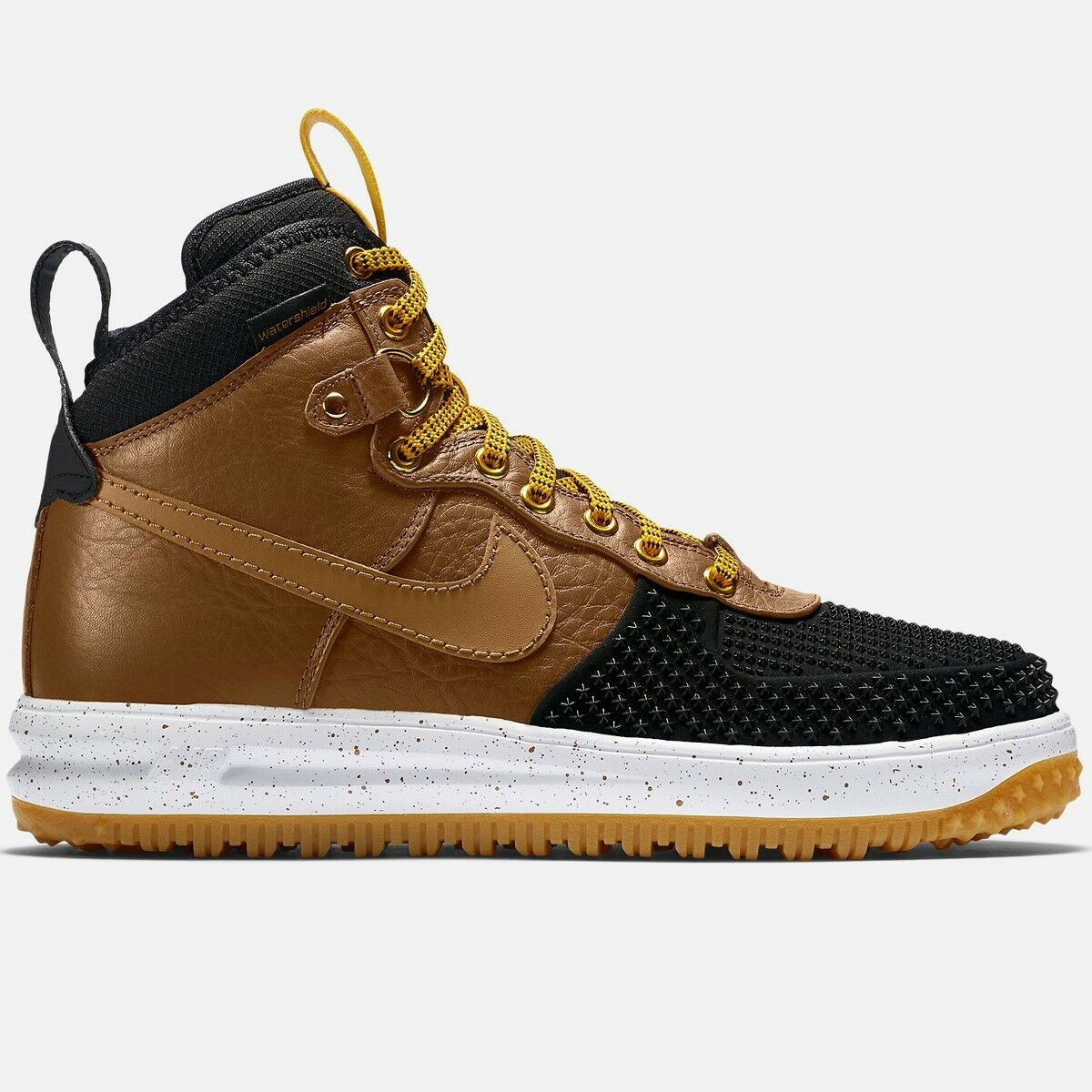 Nike Lunar Force 1 LF1 Sz 9 Air Duckbota British Tan Marrón Negro Goma 805899 004