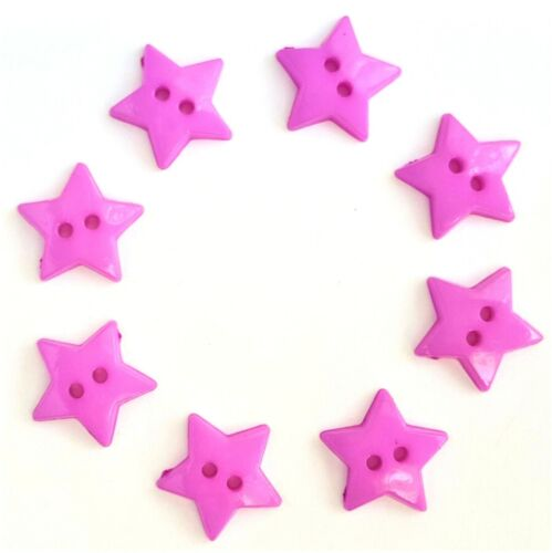 Star Resin Sewing Buttons Colourful Plastic Button DIY Handmade Craft