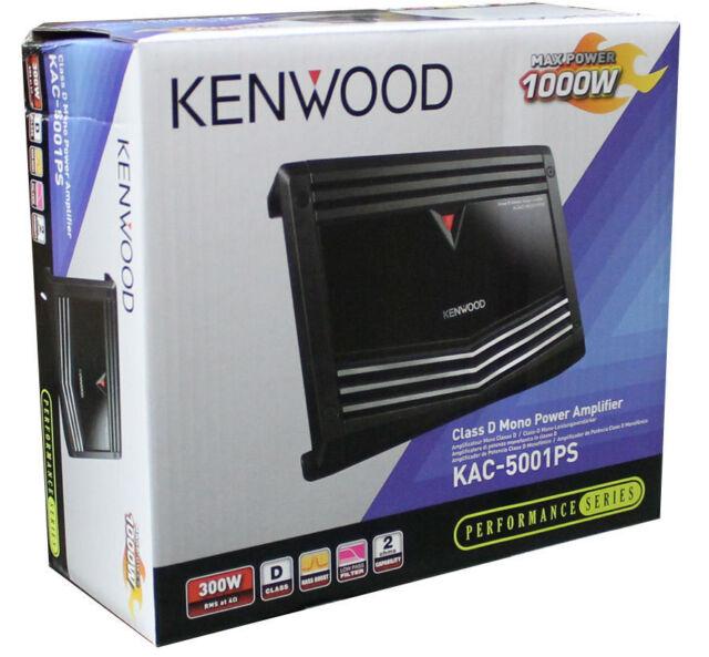 Kenwood KAC-5001PS 500W RMS Class D 1-Channel Monoblock Car Power Amplifier/Amp