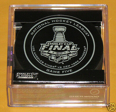 LOS ANGELES KINGS NEW YORK RANGERS Official Game 5 PUCK 2014 Stanley Cup Finals