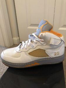 5e9bc7e4181a Men s Air Jordan Fusion 5 - White Orange Peel Stealth Gry Varsity ...