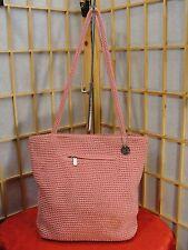 The SAK Pink Knit Zip Top Shoulder Satchel HoboHandbag Purse  NWOT GIFT IDEA!
