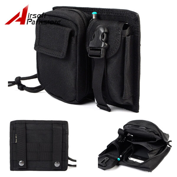 Molle Belt Tactical Military 1000D Utility Cell Phone Pouch Case Waist Bag Black