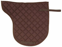 Quilted Brown English Shaped All Purpose Trail Show Riding Horse Saddle Pad