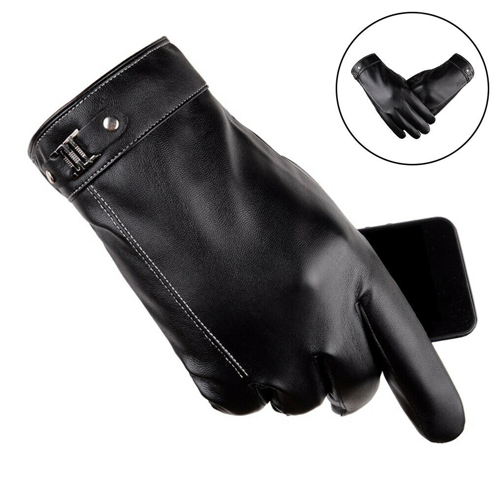 Windproof Waterproof Winter Driving Gloves Touch Screen Gloves for Men Black