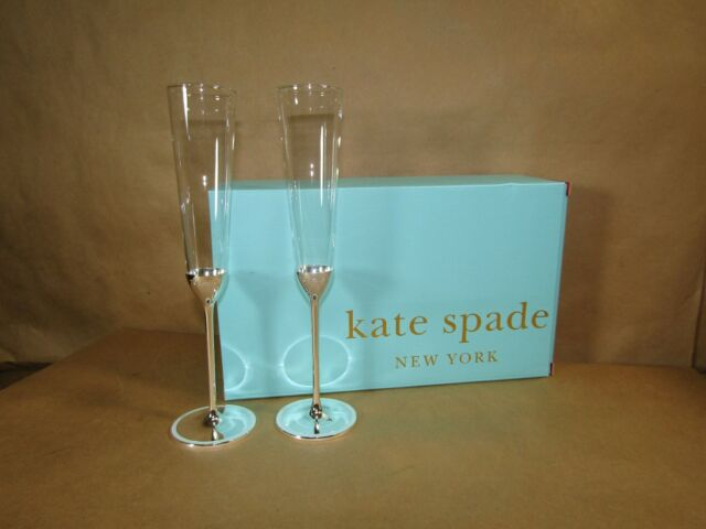 3669b454646 Kate Spade New York Grace Avenue 2-piece Toasting Flute Set by Lenox for  sale online