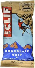Clif Bar Chocolate Chip Nutrition Sustained Energy 10g Protein 4g Fiber Exp 7/16