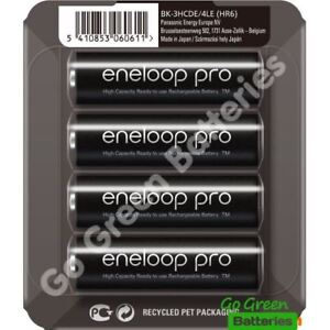 4 x Panasonic Eneloop PRO AA 2500 mAh Rechargeable Batteries Ready To Use SLIDER 5410853060611