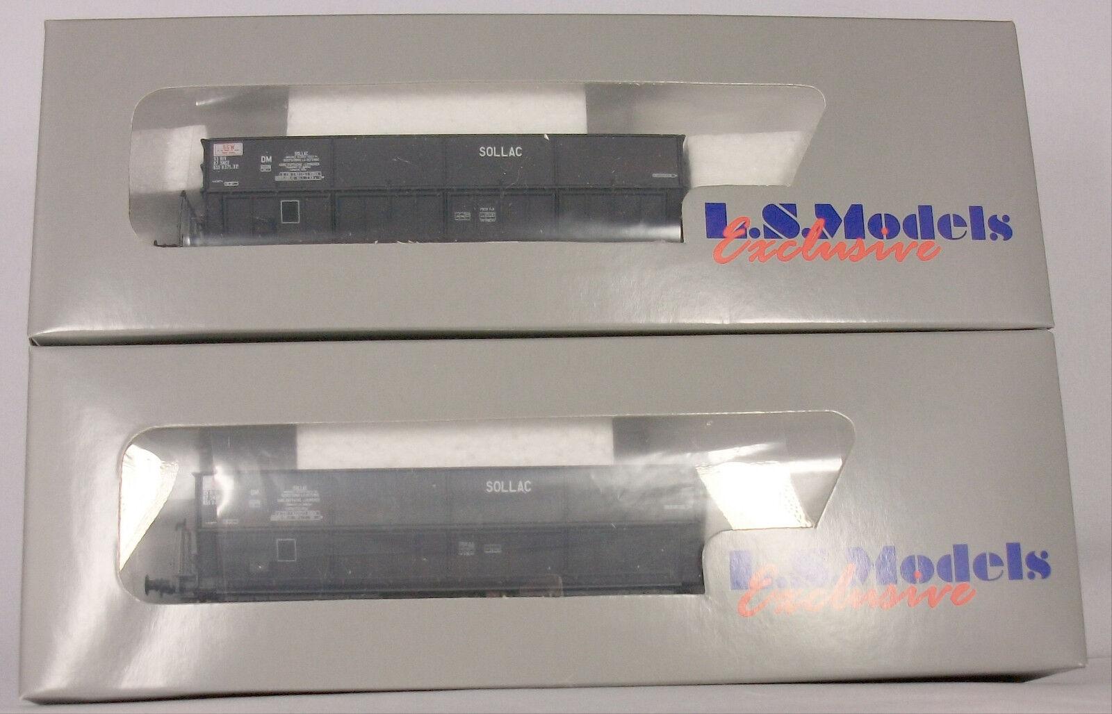 L.S. Models Set 30202 2 pezzi stessi scarico auto  SOLLAC  della SNCF