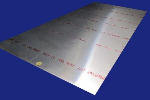 2024 Aluminum Sheet, T3, .032 (1/32) Thick x 24 Width x 48 Length