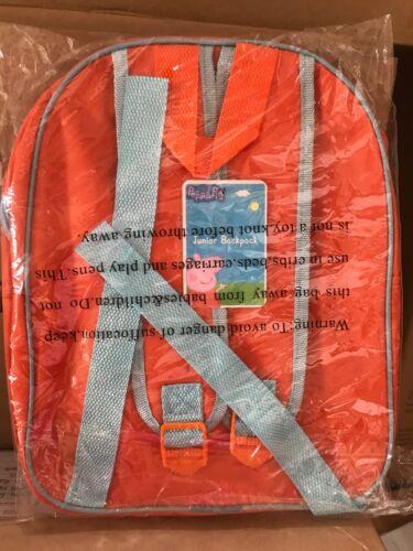 PEPPA PIG BACK PACK TODDLER NURSERY SCHOOL BAG RUCKSACK NEW