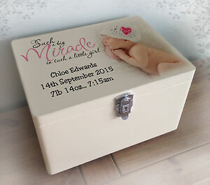 Image Is Loading Personalised Luxury Extra Large Wooden Memory Box Keepsake