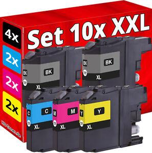 10x-XL-TINTE-fuer-BROTHER-MFC-J480DW-J880DW-J4420DW-J4620DW-J4625DW-J5320DW