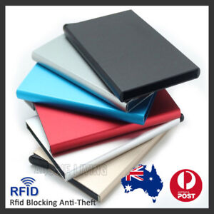 RFID Blocking Aluminum Slim Wallet ID Credit Card Holder Case Protector Purse OZ