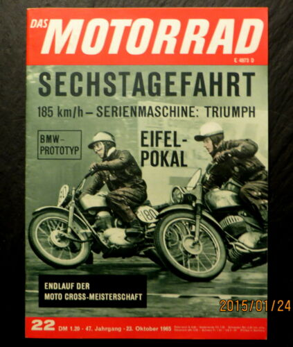 Florian Camathias tot Das Motorrad 22//65 Sechstagefahrt Isle of Man 1965,2.Teil