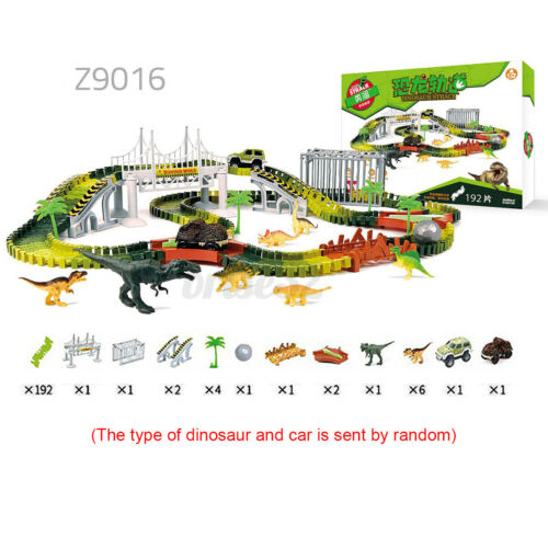Flexible Car Track Racing Dinosaur Puzzle Preschool Rail Model Toy DIY