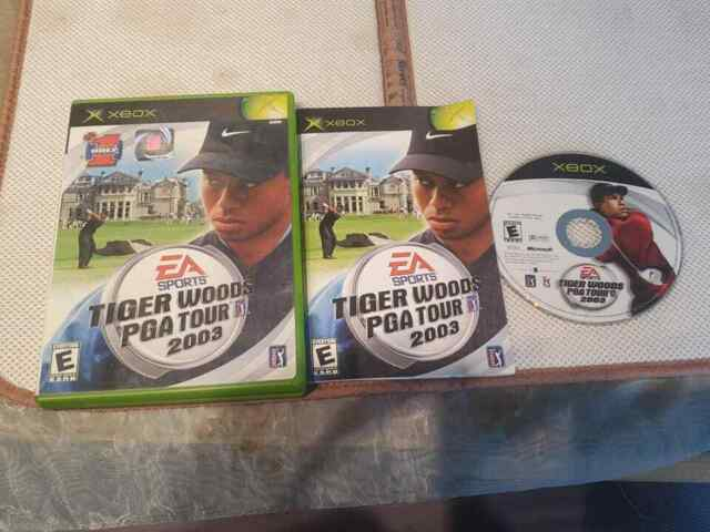Tiger Woods 2003 game for Microsoft Xbox Complete CIB VG