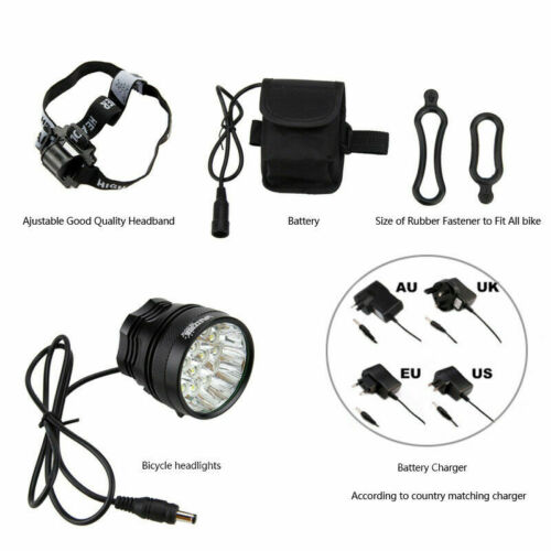 60000LM 16x XM-L T6 LED Bycicle Front Light Highlight Night Riding Bike 3-Modes