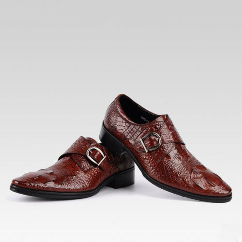 Herren Herbst Winter neu Krokoprägung Business Schuhe rutschfeste Freizeitschuhe
